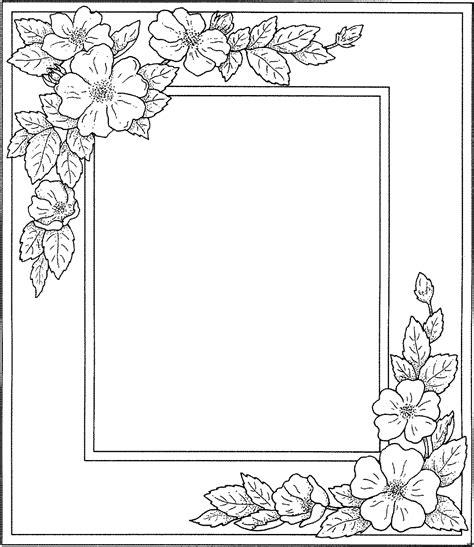 libro drawing flowers rahmen blueten in zwei ecken ausmalbild malvorlage blumen