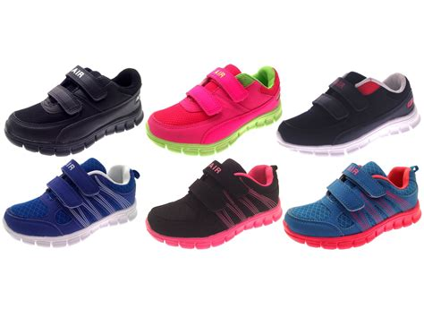 running shoes size 2 boys sports trainers velcro pumps flat running