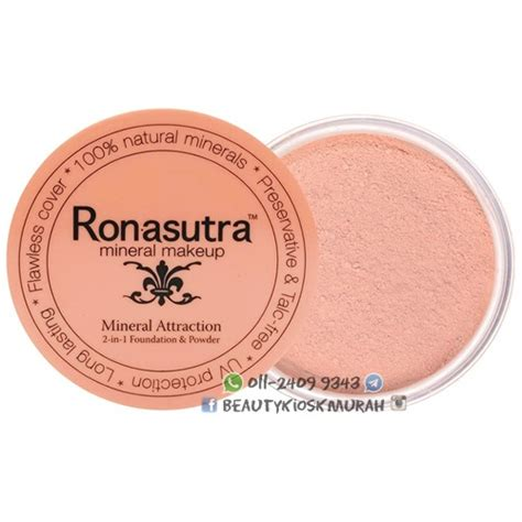 Supijati Powder 01 Warna Kemerahan ronasutra 2in1 mineral foundation powder 01