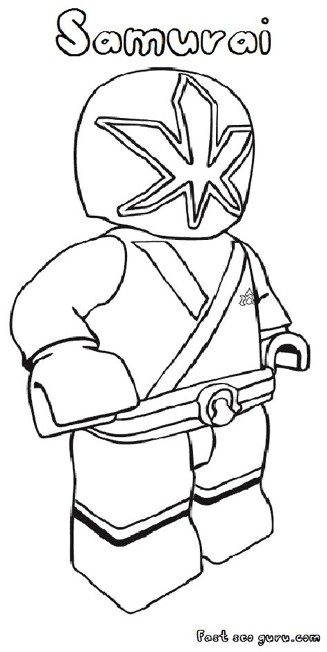 power rangers lego coloring pages printable lego power rangers samurai coloring pages