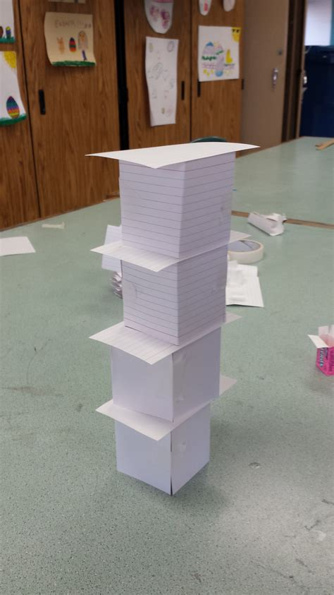 how to make a card tower building index card tower challenge ready set nolza