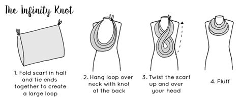 printable instructions how to tie a scarf six ways to tie a scarf scarf tying guide lisa angel