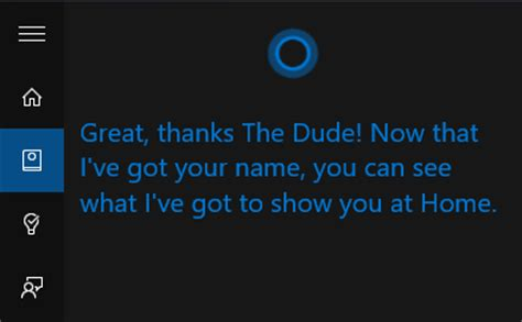 how to change the name cortana calls you in windows 10