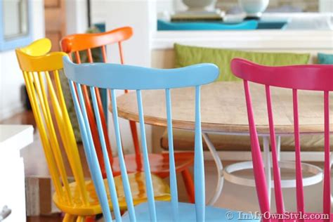 furniture makeover spray painting wood chairs in my own style