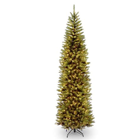 10 foot tree home depot national tree company 10 ft kingswood fir pencil tree with clear lights kw7 300 100 the home