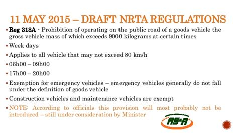 section 51 road traffic act road traffic regulations what is in the pipeline for the