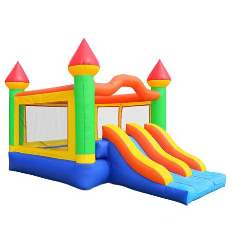 double slide way commercial inflatable slide rental bouncer slide pvc inflatable hq commercial grade mega double slide castle