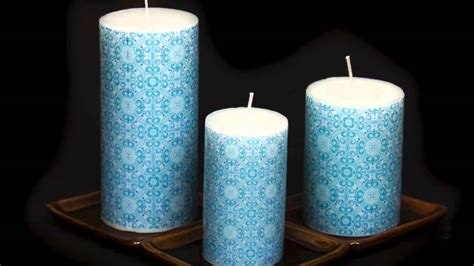 designer printed candle home interior design