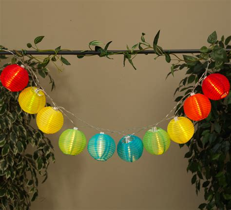colored lantern string lights led solar powered multi colored lantern string lights