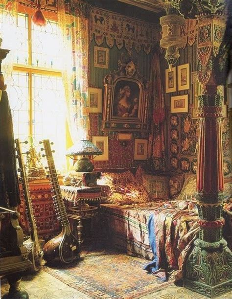 boho style home decor bohemian bedroom romantic color gypsy decor gypsy