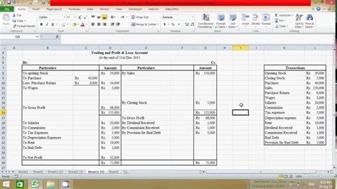 excel payroll formulas profit and loss spreadsheet template