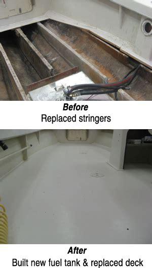 fiberglass boat deck repair oceana boatworks fiberglass gelcoat repairs page