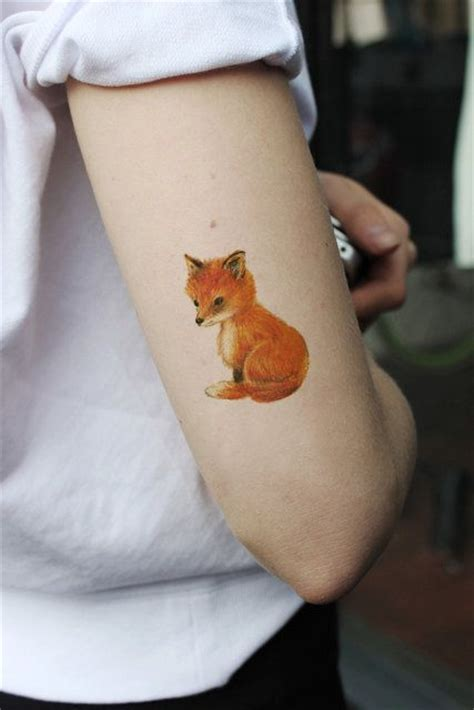 cute temporary tattoos small fox temporary boho temporary fox