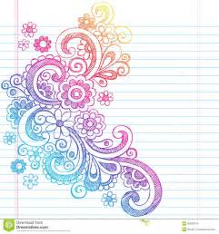 flowers sketchy back to doodle vector illus stock