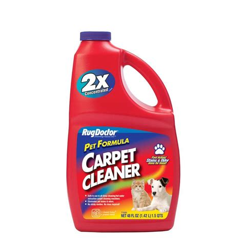 carpet cleaning solution for rug doctor rug doctor 48 oz pet formula carpet cleaner 4066 the home depot