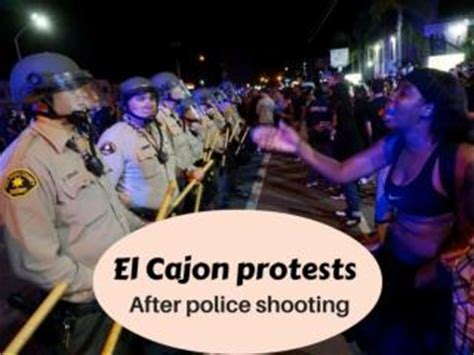 protests continue in el cajon after deadly officer ppt anger over north carolina police shooting powerpoint