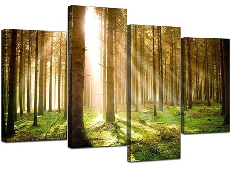 large green trees canvas wall pictures 130cm