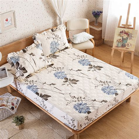 Promo Bed Cover Murah 180x200 T3010 3 cotton floral fitted sheet european style fashion simple adults bed sheet elastic