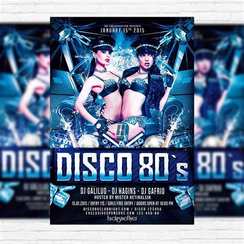 disco flyer template disco 80 s premium psd flyer template exclsiveflyer