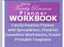 free family reunion planner templates family reunion planner