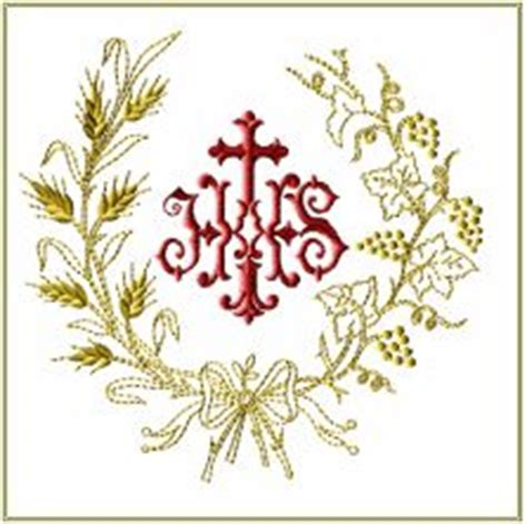 bordados eclesisticos jhs round wreath embroidery designs gold embroidery