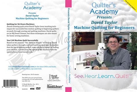Quilting Dvds For Beginners by Quilter S Academy Presents David Machine Quilting