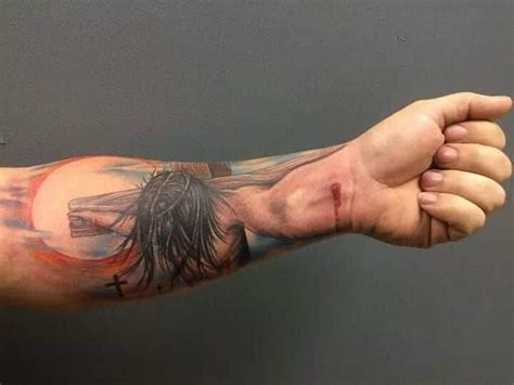 jesus nail tattoo 3d tattoos for men ideas and inspiration for guys