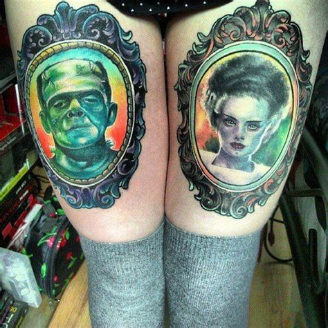 bride of frankenstein tattoo designs frankenstein and of frankenstein cameo portrait