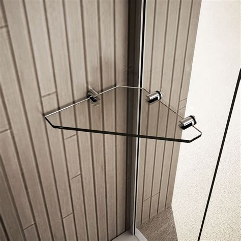 Clear Glass Corner Storage Accessory Shelf Shelves For Glass Shower Shelves