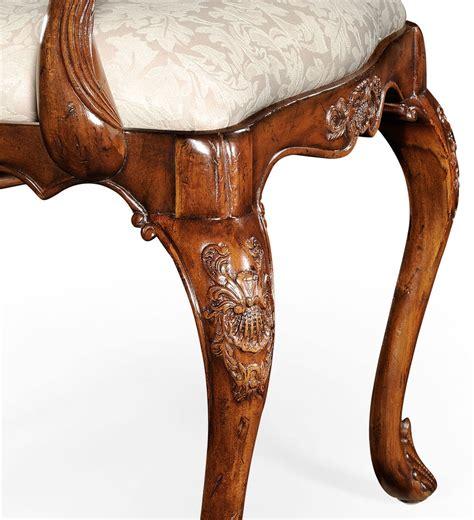 classic hepplewhite style walnut armchair