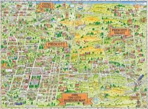 prescott prescott valley and chino valley tourist map