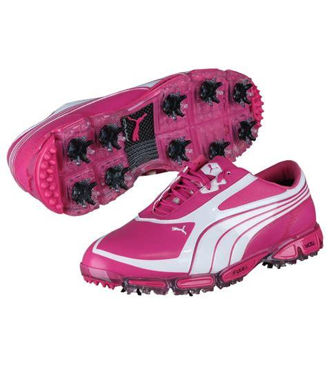 mens puma amp cell fusion sl pink lightweight waterproof carbon fibre golf shoes ebay
