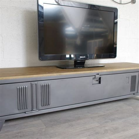 Meuble Tv Industriel Bois Metal 901 meuble tv industriel bois metal meuble tv industriel en m