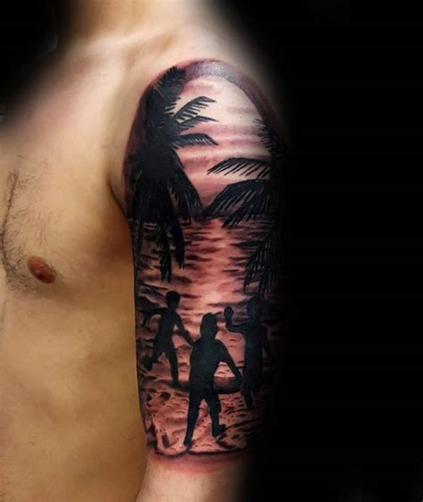 100 silhouette tattoo designs for men shadowy illustration