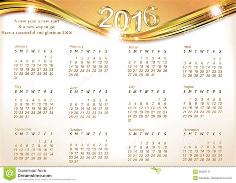 new year 2016 animal and color printable calendar for 2016 stock illustration image