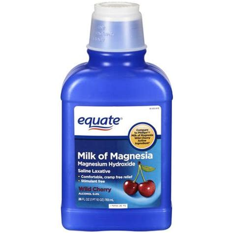 laxative walmart equate saline laxative cherry milk of magnesia 26 oz walmart
