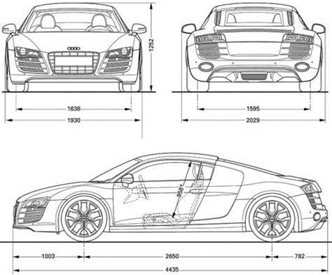 Audi R8 Dimensions by The Blueprints Blueprints Gt Cars Gt Audi Gt Audi R8 V10