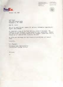 Cover Letter For Fedex liechtenstein attempted contact 1996 via fedex
