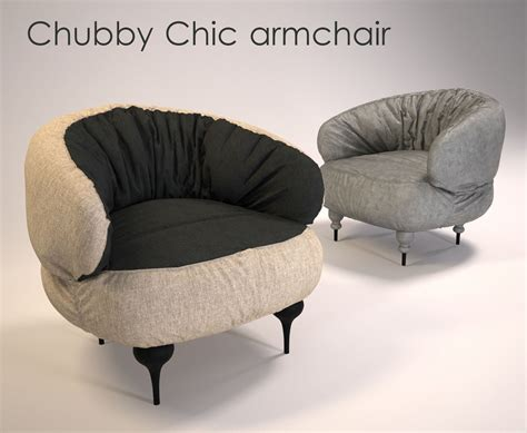 Chic Armchair by Chic Armchair 3d Model Max Fbx Cgtrader