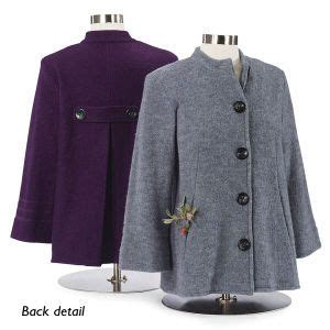 boiled wool swing jacket boiled wool swing jacket in plum northstyle style