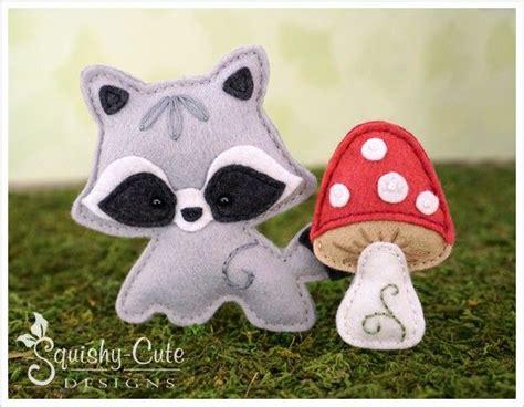 free pattern small felt animals raccoon sewing pattern baby raccoon stuffed animal