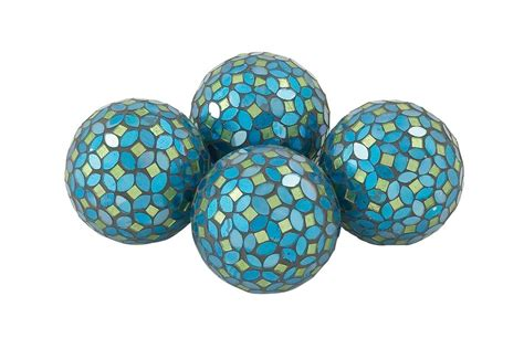 decoration balls home and hearth decorative balls in turquoise set of 4