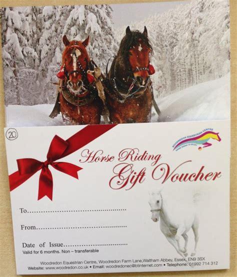 Horse Riding Gift Vouchers Horseback Gift Certificate Template