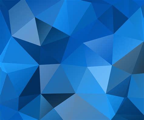 illustration blue triangles polygon  image