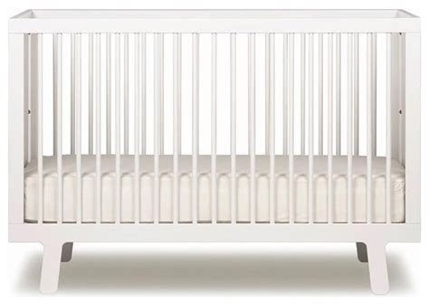 White Modern Baby Crib Oeuf Sparrow Crib White Modern Cribs By Design