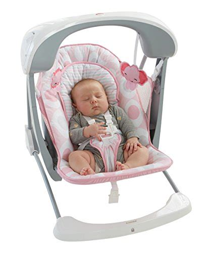 pink baby swing seat fisher price deluxe take along swing and seat pink white