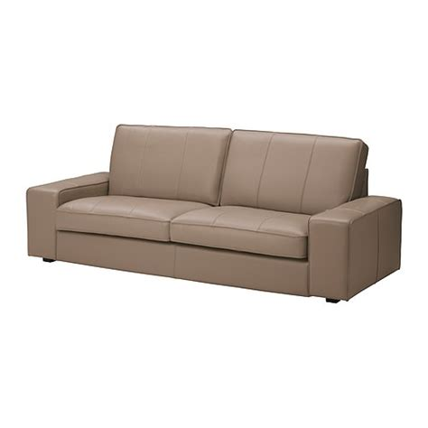 ikea leather loveseat kivik sofa grann bomstad beige ikea