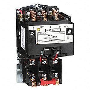 square  magnetic motor starter vac coil volts nema