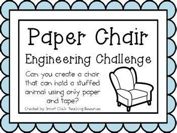 paper chair engineering challenge project great stem activity stem activities activities
