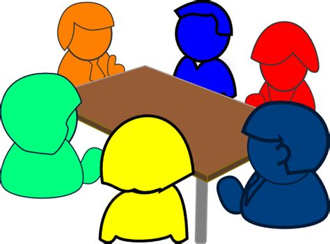 meeting clipart colorful meeting clip at clker vector clip